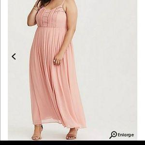 Torrid pastel pink maxi dress